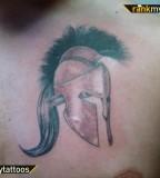 Spartan Breast Tattoo