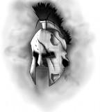 Spartan Helmet Sketches Tattoo