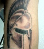 Spartan Helmet Tattoos On The Arm