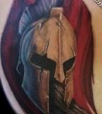 Spartan Helmet Tattoo Art