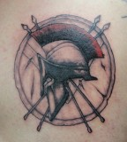 Spartan Helmet Shield Tattoo
