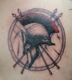 Spartan Helmet Shield Tattoo