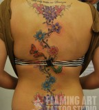 Back Flower Tattoos On Women