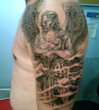 St Michael Shoulder - Upper Arm Tattoo Design