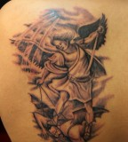 St Michael Upper Back Tattoo Ideas
