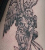 Saint Michael The Archangel Arm Tattoo