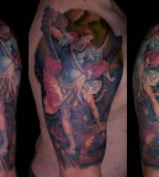 St Michael Tattoo - The High End Of Low Shoulder Tattoo