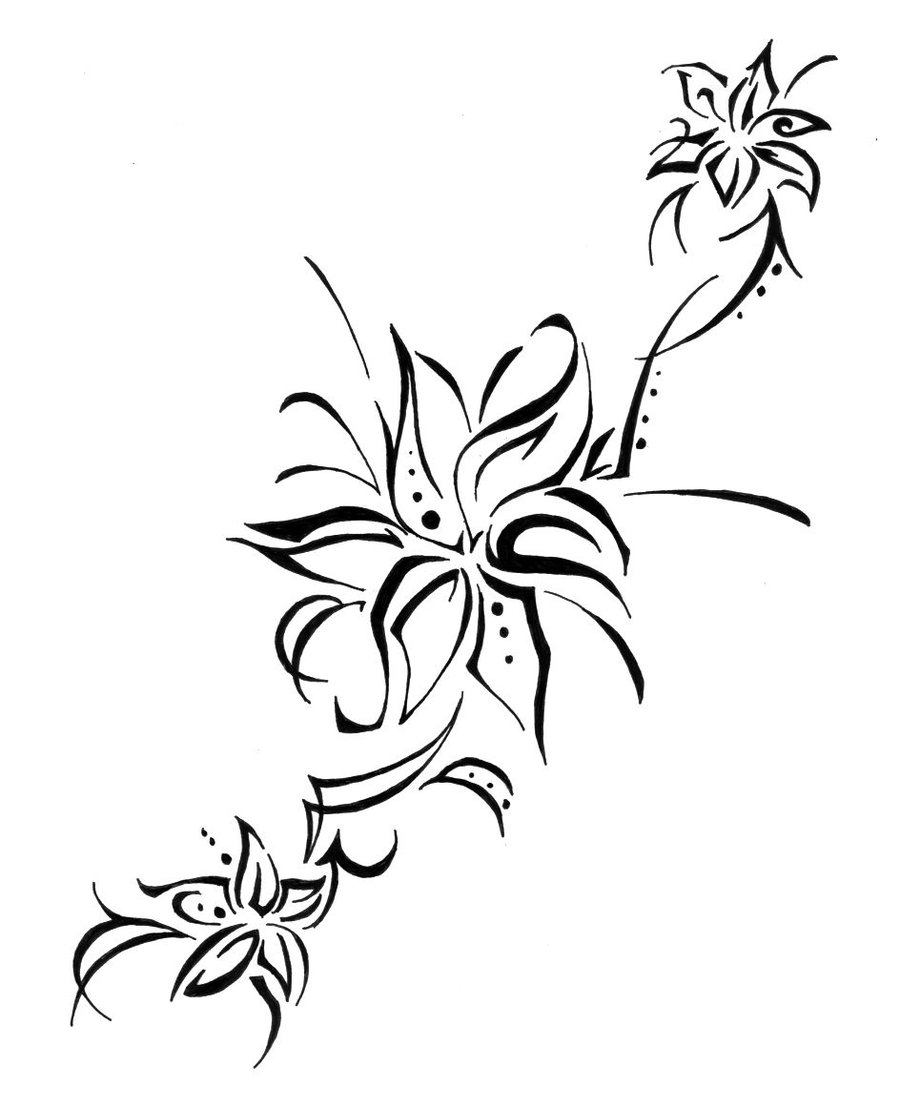 Lily Tattoo Sketch By Colorfulcandie Tattoomagz