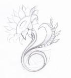 Sunflower tattoo Design Sketch