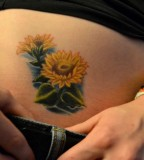 Cute Small Sunflower Tattoo Design for Women