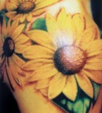 Fancy Sunflower Tattoo Design Ideas