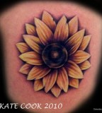 Simple Sunflower Tattoo Design