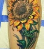 Cute Sunflower Tattoos Design Ideas