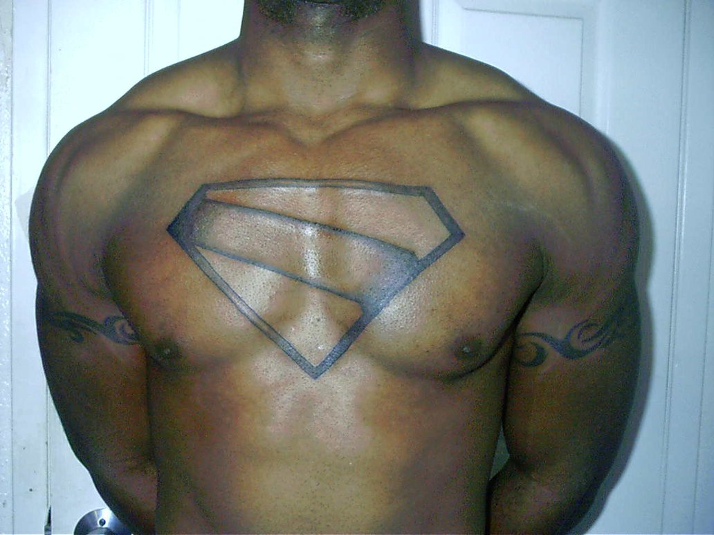 Superhero Chest Tattoo
