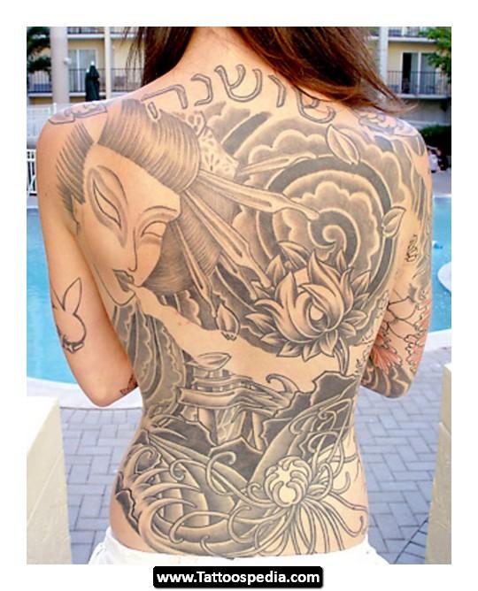 Back Shoulder Tattoo Designs for Women