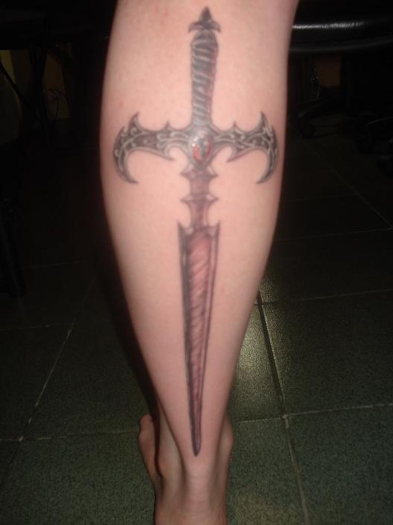 Beautiful sword tattoo design for men tattoomagz for Sword tattoos tumblr