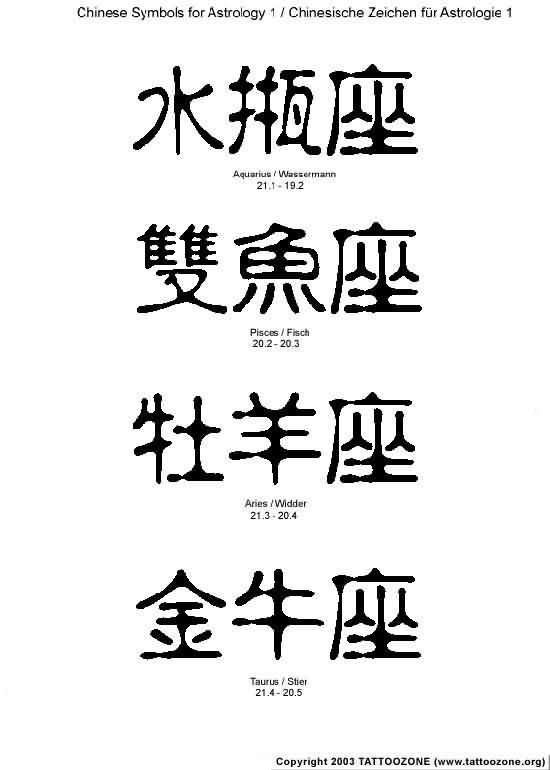 Chinese Tattoos Symbol Design Ideas Tattoomagz