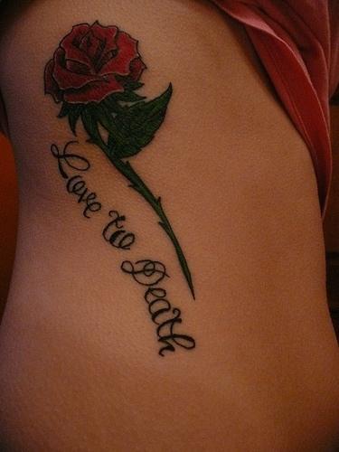 rose and love symbol tattoo design tattoomagz. Black Bedroom Furniture Sets. Home Design Ideas