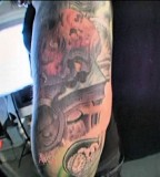 Synyster Gates Left Arm Tattoo