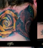 Great Flowers On The Neck Tattoo Cover Up Ideas