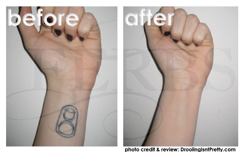 Tattoo covering makeup before and after tattoomagz for Tattoo foundation cover up