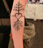 Cherry Tree Tattoo Designs for Women Arm