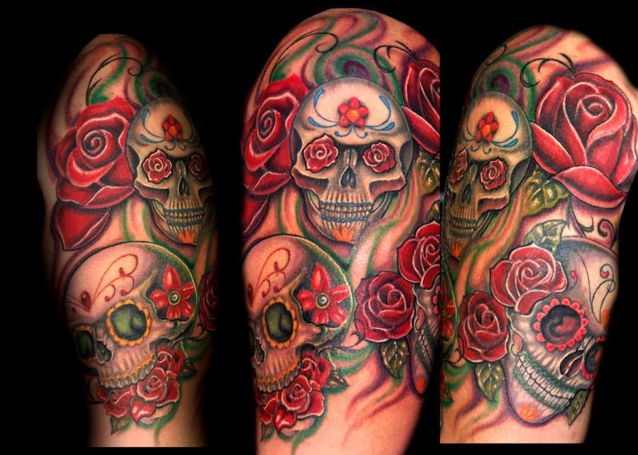 Modern Half Skull Arm Tattoo Ideas Tattoomagz