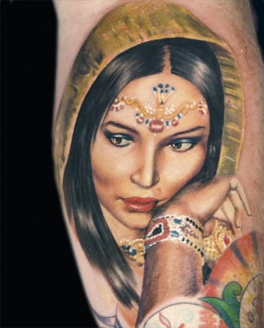 Indian Women Face Tattoos For Women