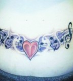 Heart And Music Note Tattoo Image
