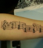 Music Notes Arm Tattoo Photo