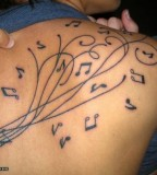 Music Tattoos In The Body