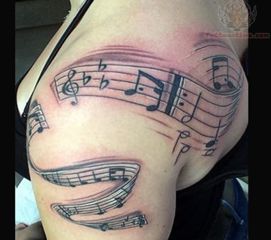 Music Shoulder Tattoos Pictures And Images