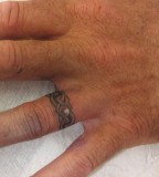 Super Ring Finger Tattoo Design Picture