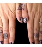 Mango Chutney Cute Shit Tattoo Design on Ring Finger