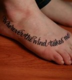Tattoo Fonts for Foot