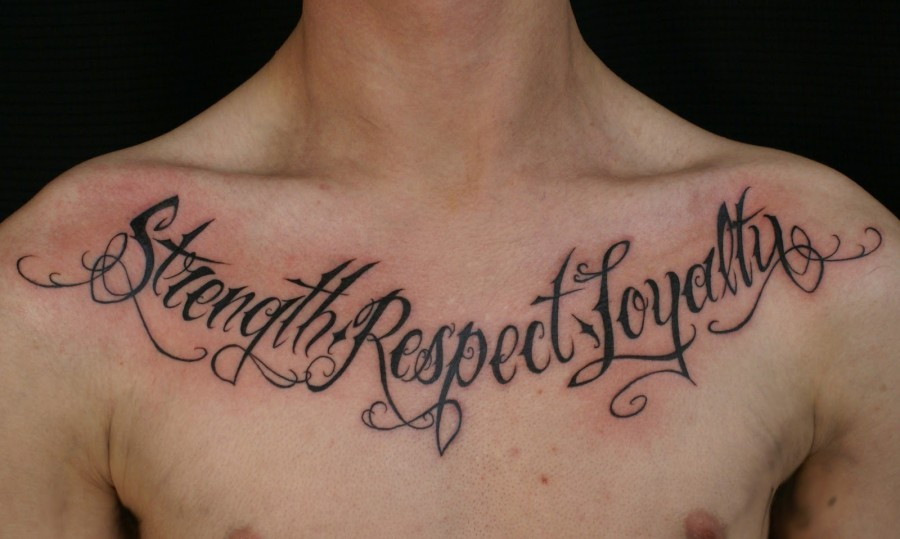 Chest Quote Tattoos