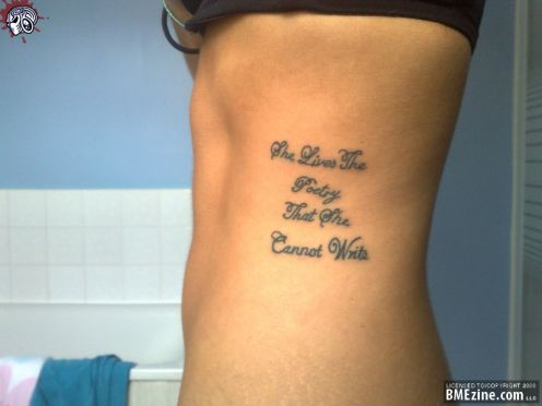 Quotes On Family Life Tattoo Ideas On The Ribs Nsfw Tattoomagz