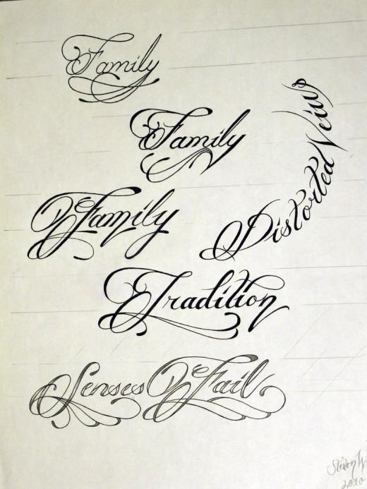 Amato Best Tattoo Script Font Maker - TattooMagz PK13