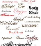Fancy Tattoo Fonts Name
