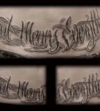 Lettering Tattoo Script Font