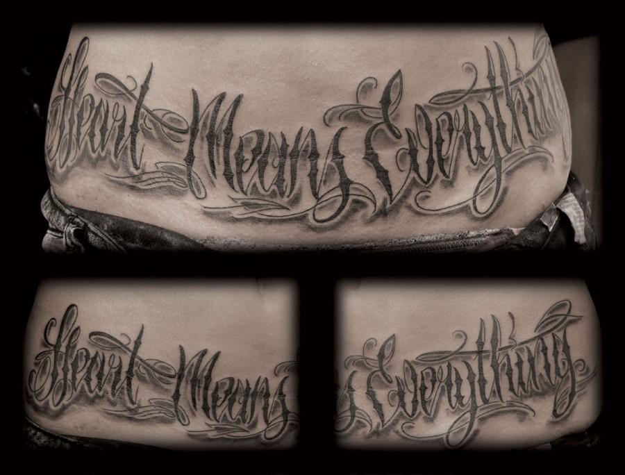 Lettering tattoo script font tattoomagz