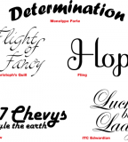 Tattoo Fonts Style Design Ideas