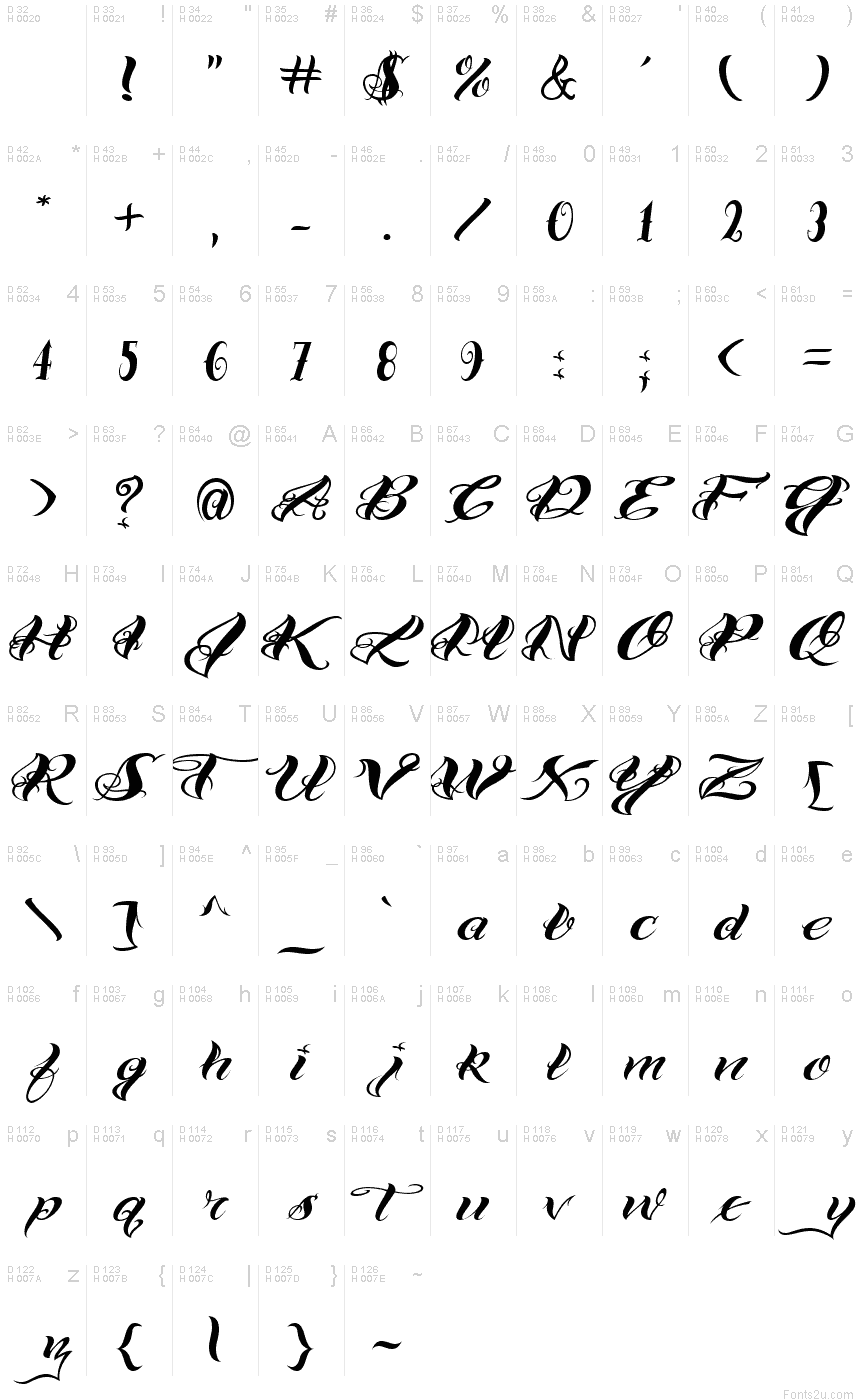 Vtcbad Tattoo Hand One Font