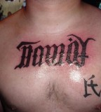 Family Forever Symbol Tattoo On Joeys Chest Photos