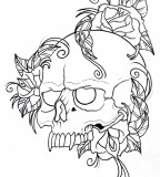 Skull and Rose Tattoo Ideas for Men