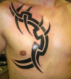 Simple Tribal Tattoo Designs for Men