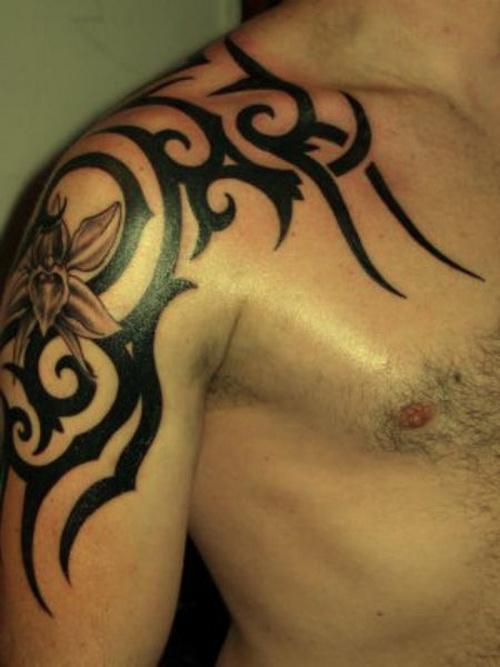 Tribal Arm Tattoos Designs for Men