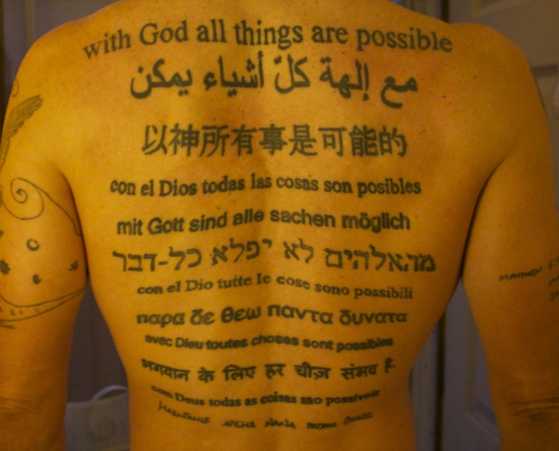 Lettering Tattoo in Different Languages