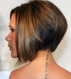 Victoria Beckham Neck Tattoos