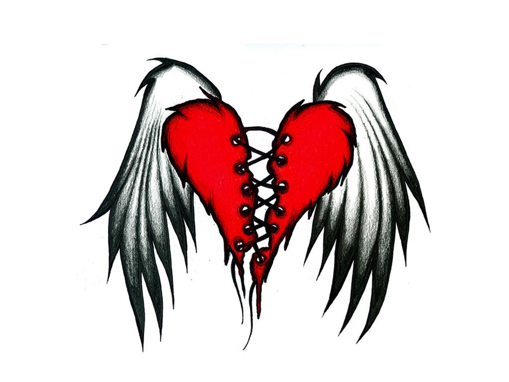 tattoos of broken hearts heart tattoos. Black Bedroom Furniture Sets. Home Design Ideas